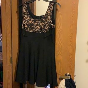 Black and lace homecoming dress